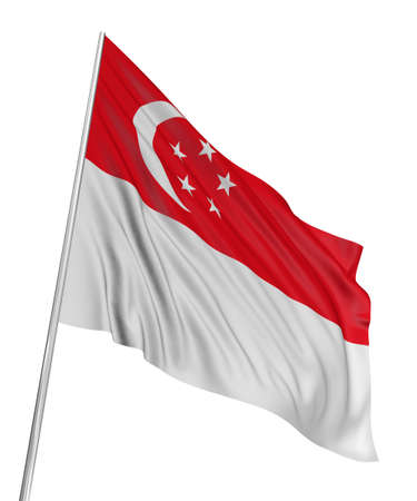 3D Singapore flag Editorial
