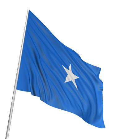 somali: 3D Somali flag