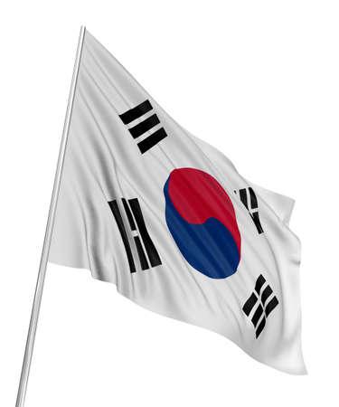 3D South-Korean flag