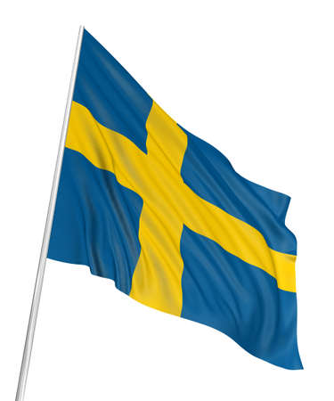 3D Swedish flag photo