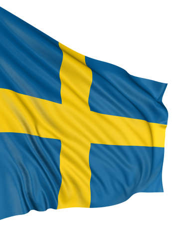 3D Swedish flag Stock Photo - 7933427