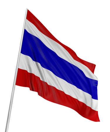 3D Thai flag photo
