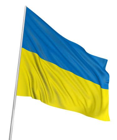 3D Ukrainian flag Stock Photo - 7933391