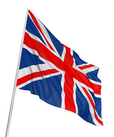 the 3d: Bandera de Reino Unido 3D  Foto de archivo