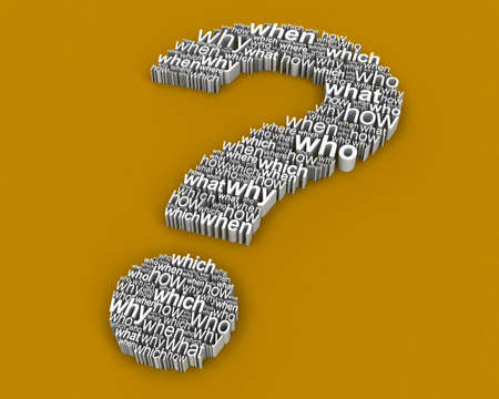 Big Question from questions  Stock Photo - 8015156