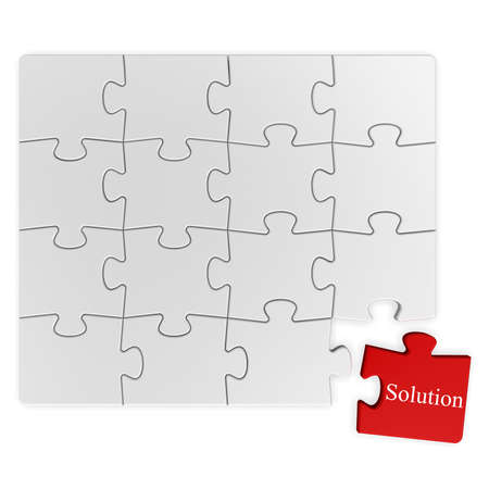 Puzzle solution Stock Photo - 13362314