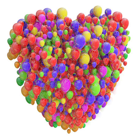 graphic backgrounds: Heart from Balloons