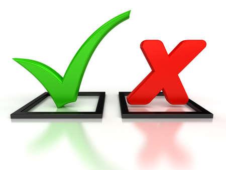 cross mark: Accept and Decline