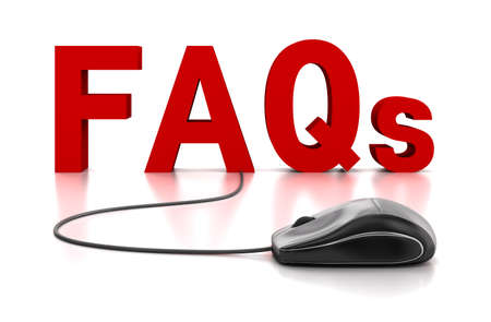 FAQs 3D Text with Computer Mouse Stock Photo - 13367763