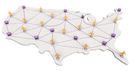 USA Networking Map  photo