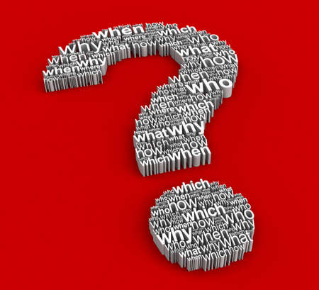 Big Question from questions  Stock Photo - 13368073