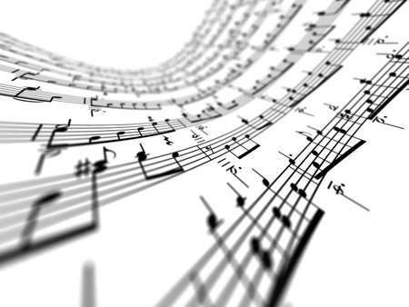 3d music notes photo