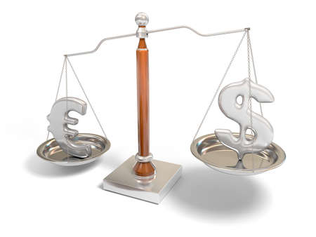 Currency on balance scale  photo