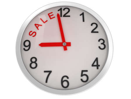 sale time on alarm clock Stock Photo - 13401738