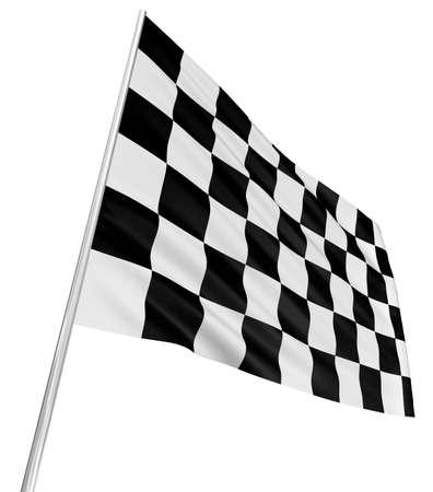 bandera carrera: Bandera a cuadros Foto de archivo