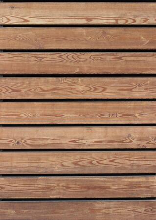 polished wood: Horizontal wooden slats. Smooth polished wood texture. Stock Photo