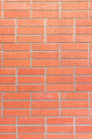 Seamless Red Brick Wall Stock Photo