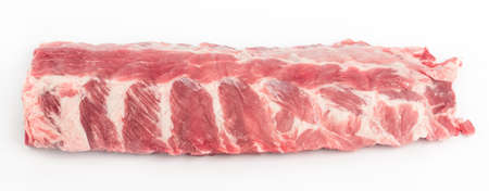 Pork ribs on a white background, isolate