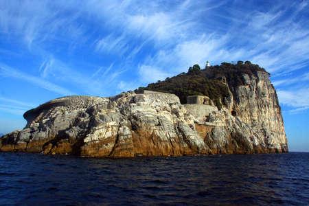 보트에서 티노 섬보기