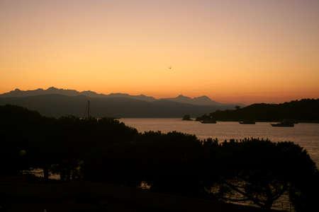 포르토 베네 레에서 새벽에 해양 풍경