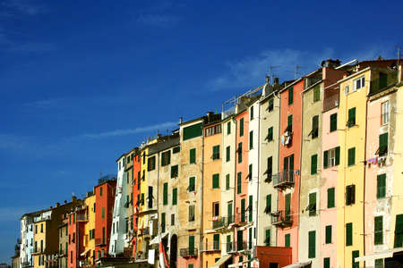 Portovenere: glimpse of colorful buildings