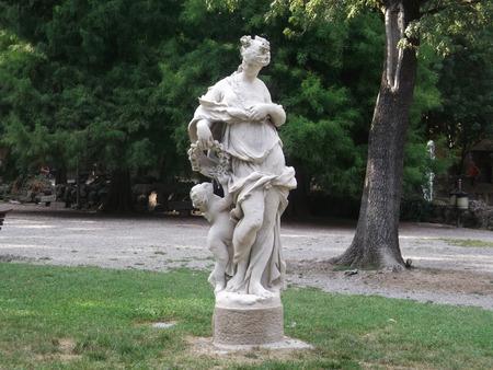 giardino: A statue in the park in Modena Giardino Ducale Estense
