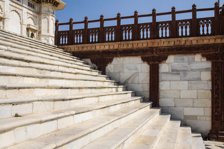redstone: Jaswant Thada in Jodhpur Rajasthan India  White Marble Construction with contrasting use of red sandstone.