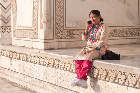 kameez: Dressed in the traditional indian pantsuit