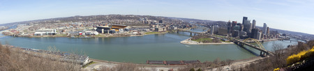 Pittsburgh cityscape panorama.