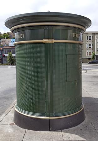 Public latrine on San Francisco sidewalk. Imagens
