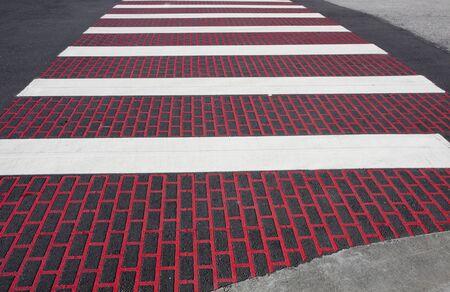 Brick pattern crosswalk. Stock Photo