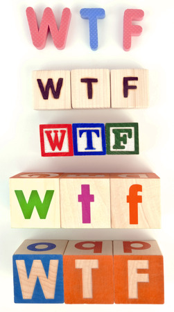 oh: WHAT THE ______! Stock Photo