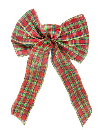 Isolated plaid bow.