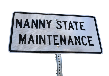 NANNY STATE MAINTENANCE concept sign. Isolated. Stock fotó