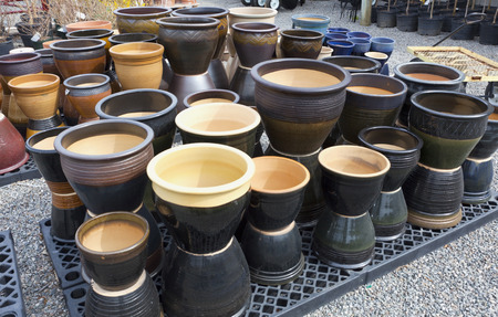 Ceramic gardening pots for sale.