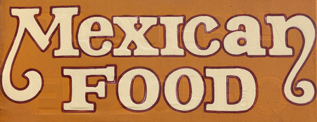 MEXICAN FOOD sign.