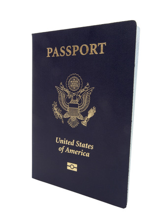 United States passport. Isolated. Banco de Imagens