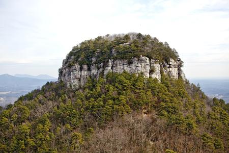 Rising 2000 feet, Pilot Mountain, North Carolina has been a navigational landmark for centuries.