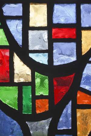 Stained glass window. Vertical. Banco de Imagens