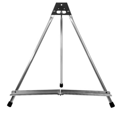 Small collapsible aluminum display stand isolated on white. Stock fotó