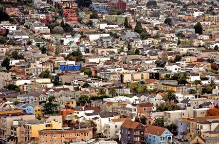 San Francisco`s Noe Valley district. Editorial