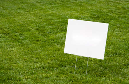 Blank Sign on Grass with Copyspace.
