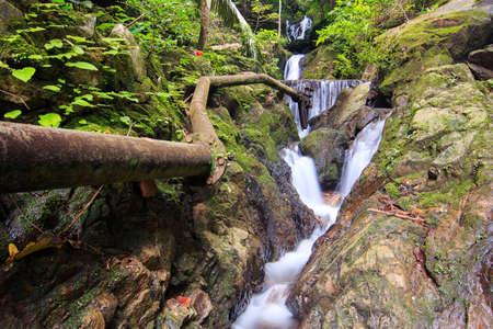 Beautiful of tonsai waterfall in Phuket, Thailand.