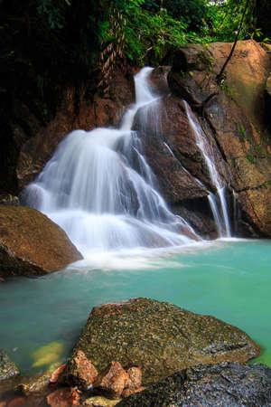 Beautiful of kathu waterfall in Phuket, Thailand.