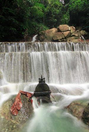 Beautiful nature of Kathu Waterfall.