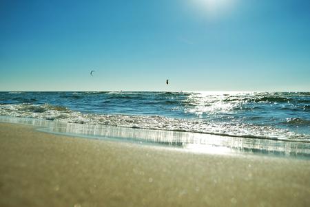 kiteboarding in shore
