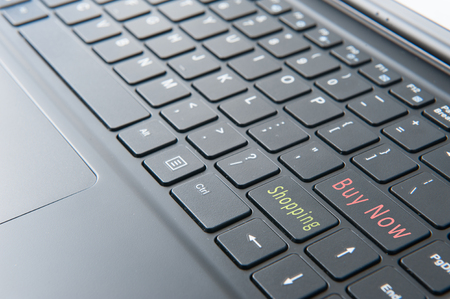 laptop with touch screen mode Stock Photo