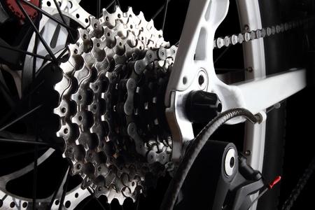 Engranajes de bicicleta y el cambio trasero