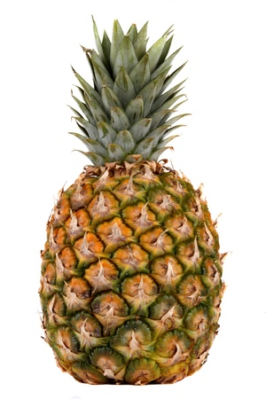 Pineapple fruit  Studio shot isolated on white  photo