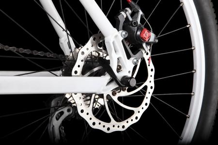 Bicicleta freno de disco trasero Foto de archivo
